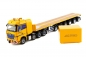 Preview: IMC Models 33-0124 AC 700-9 Support Combination Mercedes-Benz Actros GigaSpace 8x4 with Nooteboom 6 axle ballasttrailer and 10ft container