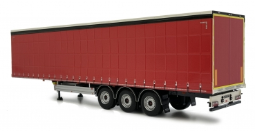MarGe Models 1902-01-12 Pacton Curtainside trailer red
