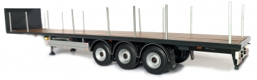 MarGe Models 1901-02 Pacton Flatbed trailer black