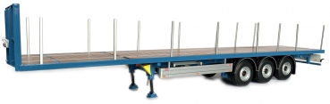 MarGe Models 1901-03 Pacton Flatbed trailer blue