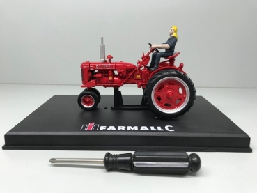Replicagri 175 Farmall Super C 1953 mit Fahrerin und Row Crop Umbau Kit Limited Edition