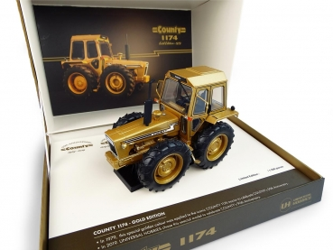 "Universal Hobbies 6211 FORD COUNTY 1174 - VERSION ""DOREE"" - 50EME ANNIVERSAIRE DU MODELE COUNTY 1929 - 1979 ""Gold"""