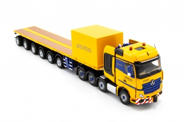IMC Models 33-0124 AC 700-9 Support Combination Mercedes-Benz Actros GigaSpace 8x4 with Nooteboom 6 axle ballasttrailer and 10ft container