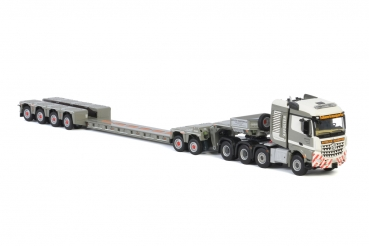 WSI Models 01-3214 Affolter MERCEDES-BENZ AROCS MP4 2.300 STREAM SPACE 8X6 LOW LOADER | EURO - 4 AXLE | DOLLY - 2 AXLE