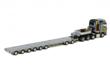 WSI Models 01-3067 Friderici MERCEDES-BENZ ACTROS MP4 SLT GIGA SPACE 8X4 LOW LOADER 6 AXLE | DOLLY 2 AXLE