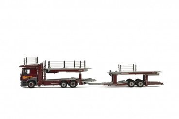 WSI Models 01-2486 Galliker MERCEDES BENZ ACTROS MP4 2300 MM COMPACT SPACE 6x2 TWIN STEER Kässbohrer CAR TRANSPORTER - 2 AXLE