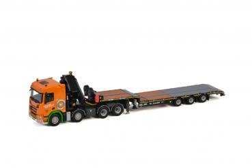 WSI Models 01-3346 Holtrop v.d. Vlist SCANIA R NORMAL | CR20N 8X4 LOW LOADER - 3 AXLE TRUCK MOUNTED CRANE | JIB
