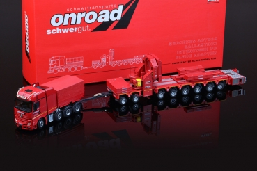 IMC Models 33-0075 OnRoad Mercedes-Benz Actros GigaSpace 8x4 with Ballastbox with Scheuerle Intercombi PB with Wing Adapter