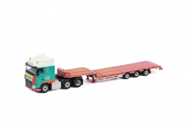 WSI Models 01-3133 Scales DAF XF SPACE CAB 6X2 TWINSTEER SEMI LOW LOADER - 3 AXLE
