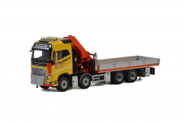 WSI Models 01-2572 Silvasti VOLVO FH4 GLOBETROTTER RIGED TRUCK FLAT BED + PALFINGER 7800.2