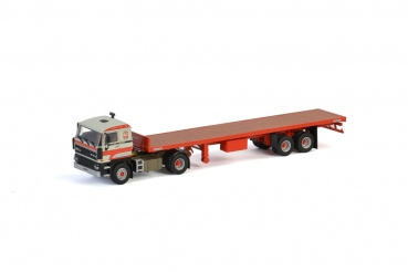 WSI Models 01-2893 Transport Bialek & Fills DAF 3600 4x2 CLASSIC FLAT BED TRAILER - 2 AXLE