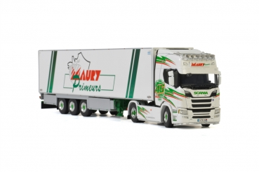 WSI Models 01-2839 Transports Maury SCANIA R HIGHLINE CR20H 4x2 REEFER TRAILER - 3 AXLE