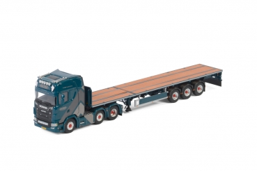 WSI Models 01-2982 Van den Brink Staalbouw B.V. SCANIA S HIGHLINE | CS20H FLAT BED TRAILER - 3 AXLE