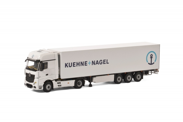 WSI Models 01-2153 Kuehne + Nagel MERCEDES-BENZ ACTROS MP4 GIGA SPACE 4x2 REEFER TRAILER - 3 AXLE