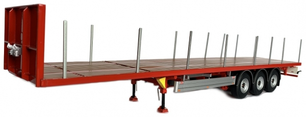 MarGe Models 1901-01 Pacton Flatbed trailer red