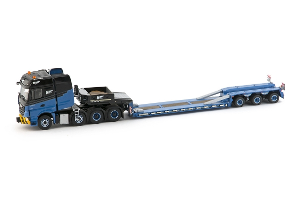 IMC Models 33-0058 H2 International Mercedes Benz Arocs Bigspace 8x4 with Goldhofer 3 axle low loader