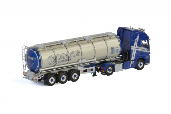WSI Models 01-2811 Ingo Dinges VOLVO FH4 GLOBETROTTER XL 4x2 TANK TRAILER - 3 AXLE
