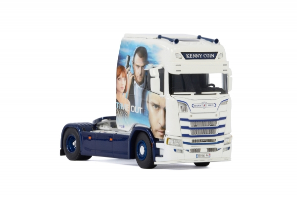 "WSI Models 01-3058 Kenny Coin Transports SCANIA S HIGHLINE | CS20H 4X2 ""Time Out"""