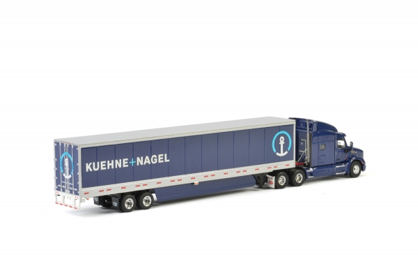 WSI Models 01-2154 Kuehne + Nagel PETERBILT 579 BOX TRAILER - 3 AXLE