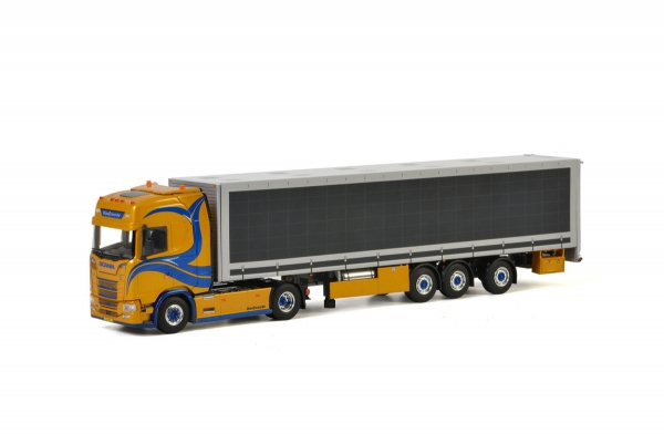 WSI Models 01-2768 Mantrans SCANIA S HIGHLINE CS20H 4x2 BOX TRAILER - 3 AXLE