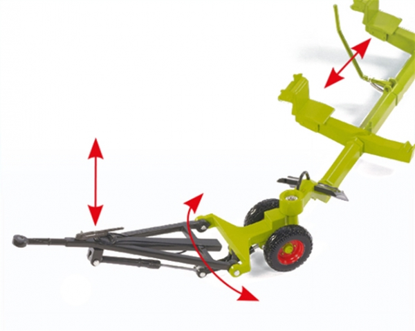 Wiking 077825 Claas Direct Disc 520 mit Schneidwerkwagen