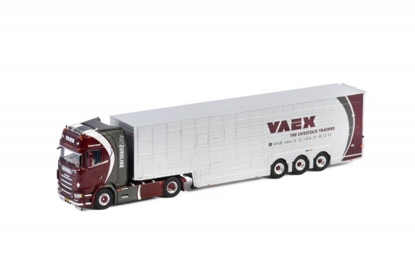 WSI Models 01-3035 Vaex SCANIA S HIGHLINE | CS20H 4X2 RESIN TRAILER | CUSTOM MADE - 3 AXLE